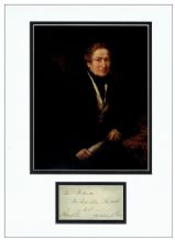 Sir Robert Peel Autograph Signed Display